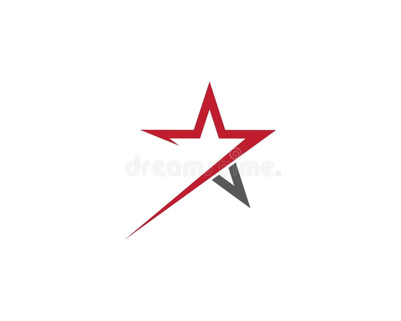Projeto da ilustra??o do molde do logotipo da estrela ilustração do vetor