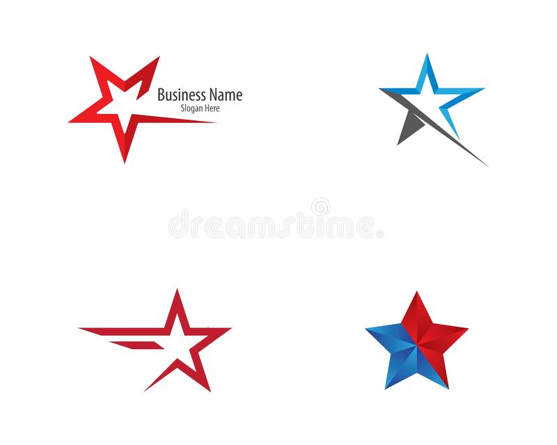 Projeto da ilustra??o do molde do logotipo da estrela ilustração royalty free