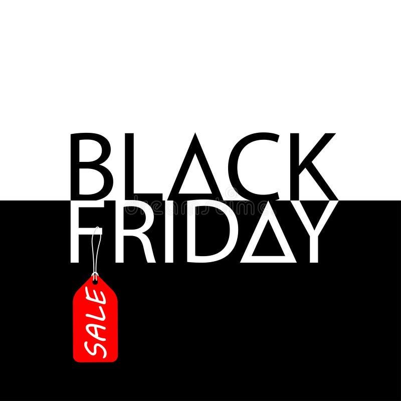 Projeto da inscrição da venda de Black Friday no estilo monocromático Ilustração do vetor ilustração stock