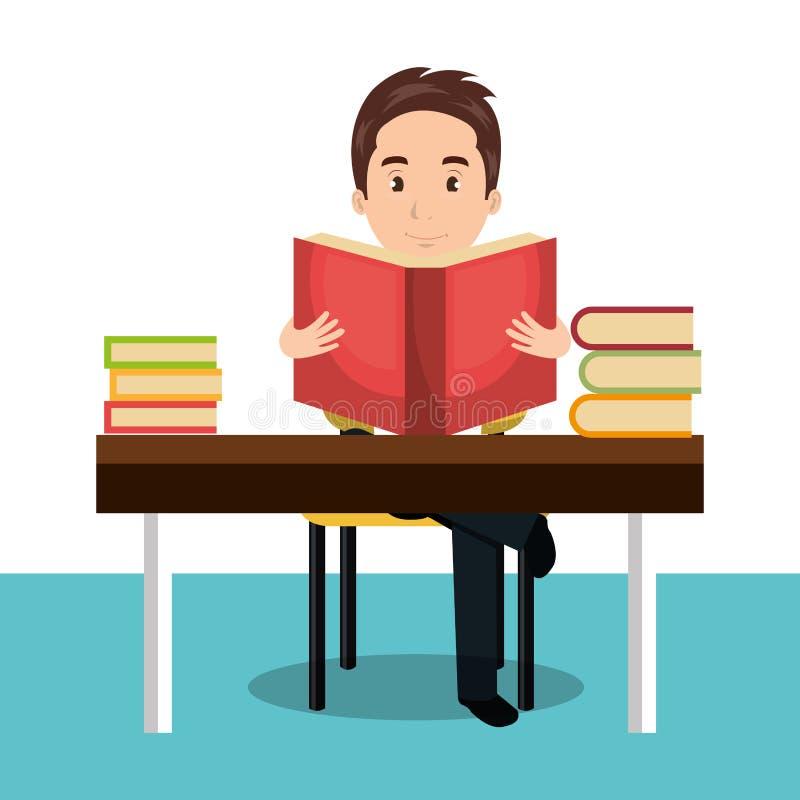 projeto da leitura da pessoa ilustração do vetor