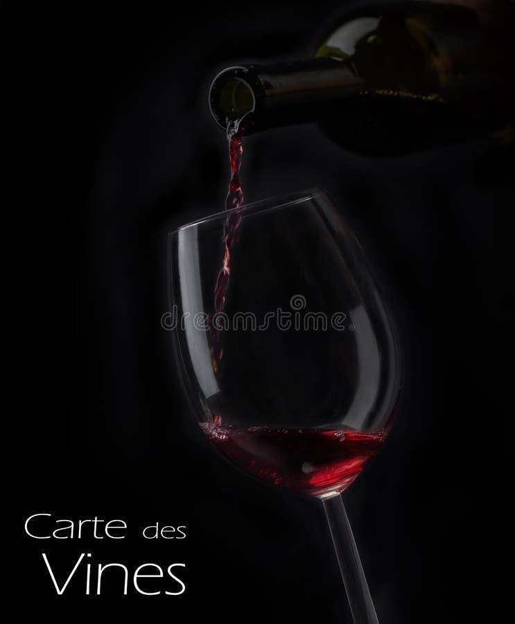 Projeto da lista de vinho imagens de stock