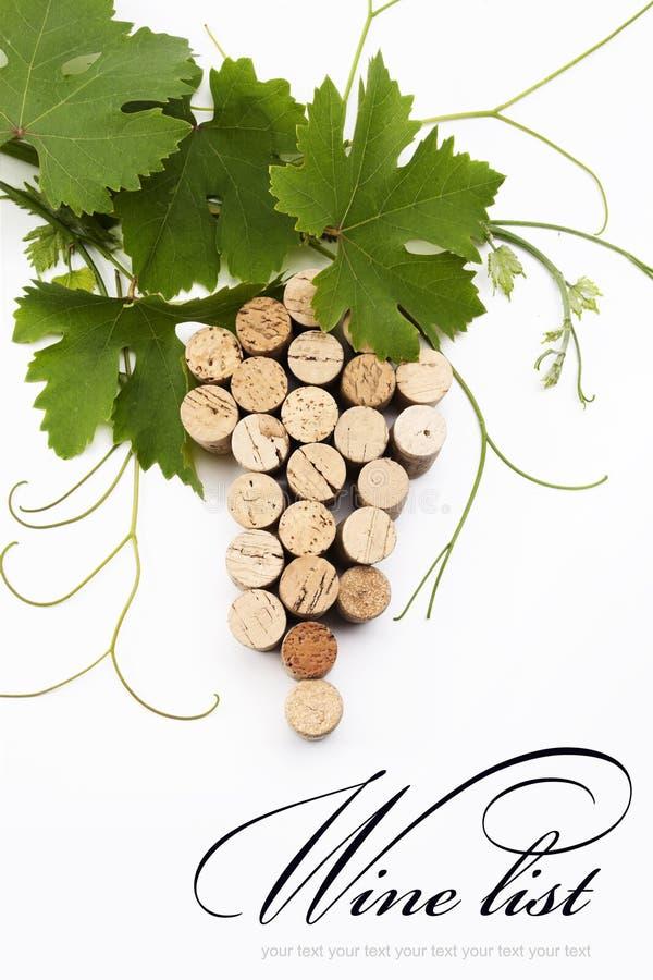 Projeto da lista de vinho do conceito fotos de stock royalty free