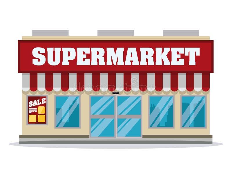 Projeto da loja do supermercado ilustração royalty free
