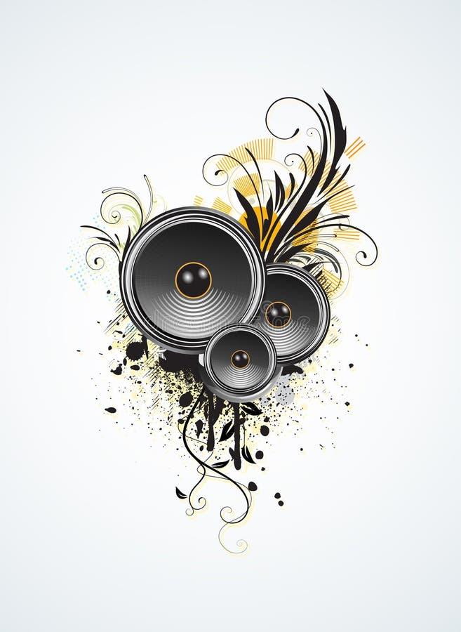 Projeto da música ilustração stock