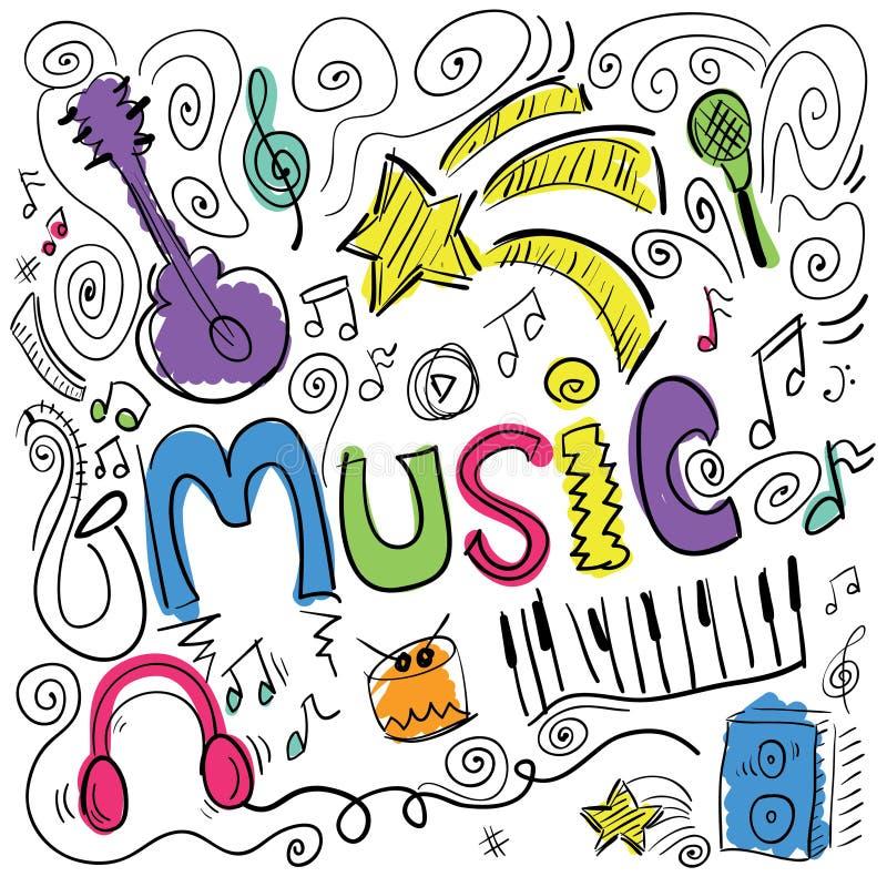 Projeto da música ilustração royalty free