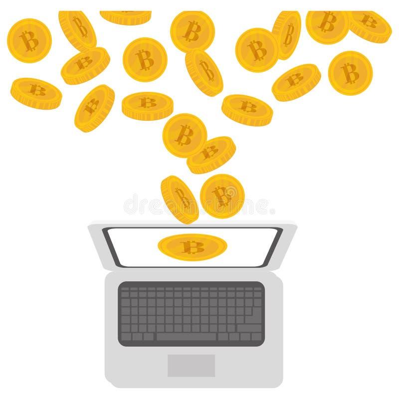 projeto da moeda do bitcoin ilustração do vetor