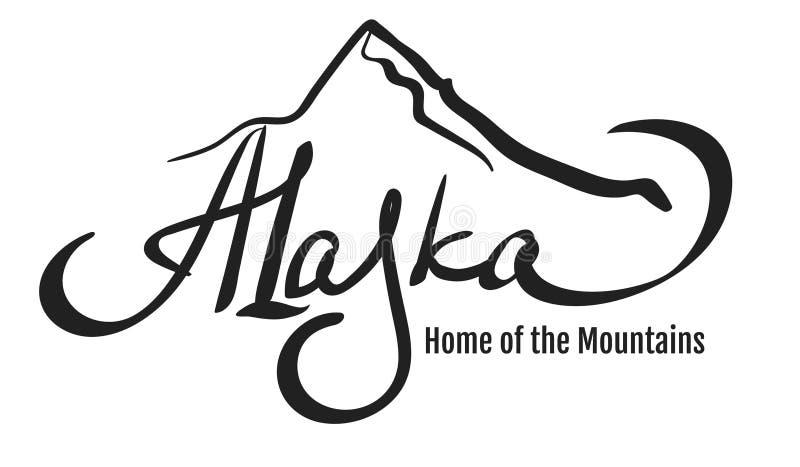 Projeto da montanha de Alaska ilustração do vetor