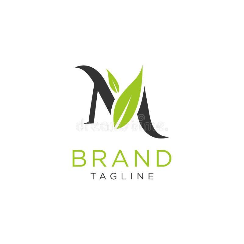 Projeto da natureza do logotipo da letra ou alfabeto das iniciais Estilo minimalista simples ilustração royalty free