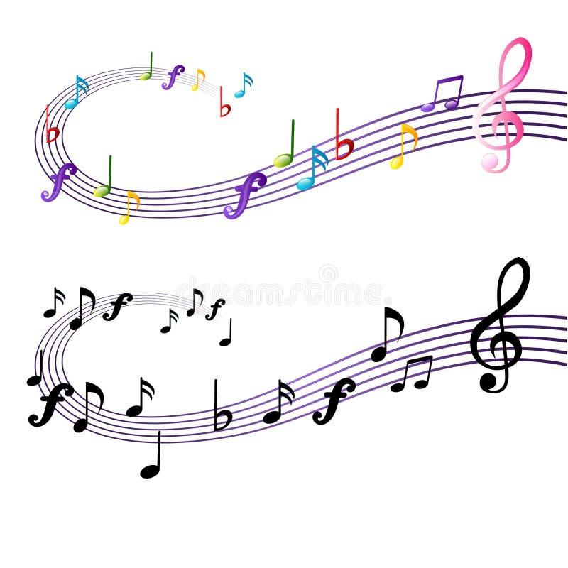 Projeto da nota da música ilustração royalty free