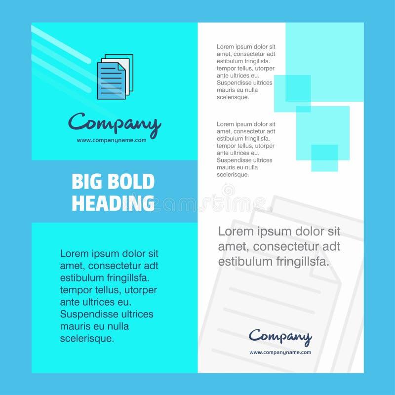 Projeto da página de Company Brochure Title da impressora Perfil da empresa, informe anual, apresentações, fundo do vetor do folh ilustração stock