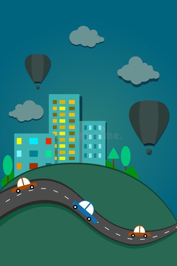 Projeto da paisagem da cidade ilustração stock