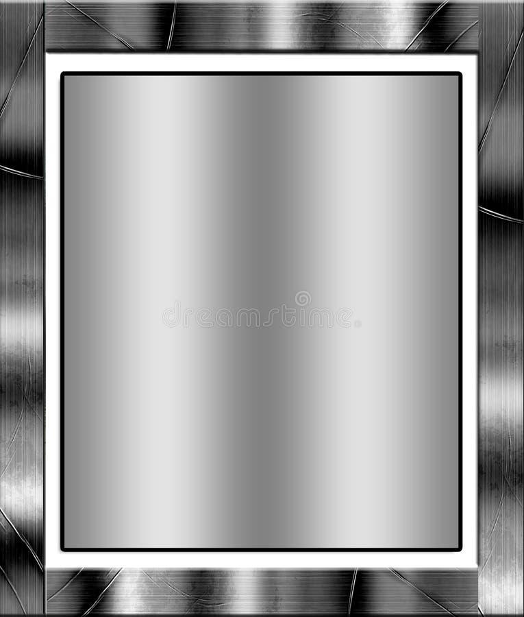 Projeto da placa de metal ilustração royalty free