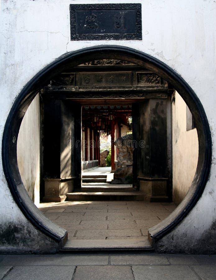 Projeto da porta do círculo fotografia de stock royalty free