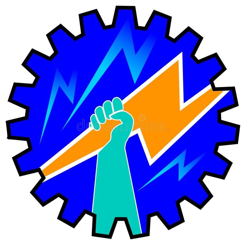Projeto da potência ilustração do vetor