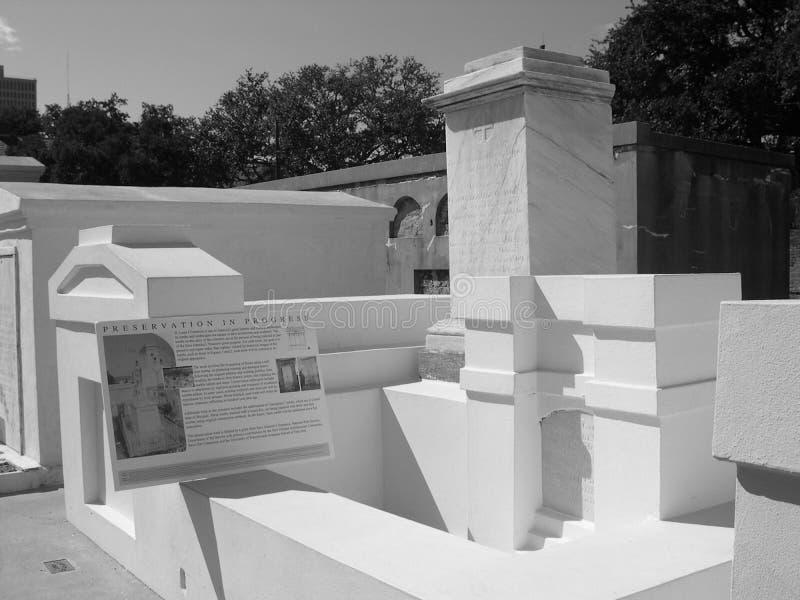Projeto da preservação no cemitério Archdiocesan, Nova Orleães, Louisiana fotos de stock