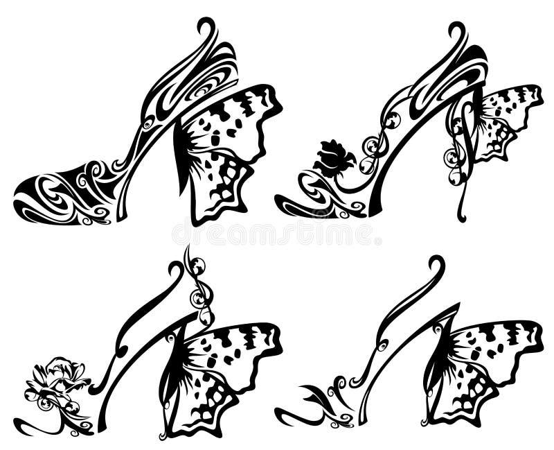 Projeto da sapata ilustração stock