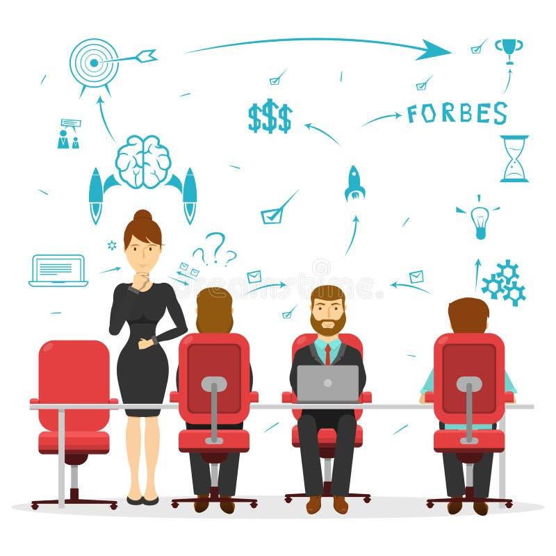 Projeto da sessão de reflexão do negócio ilustração stock
