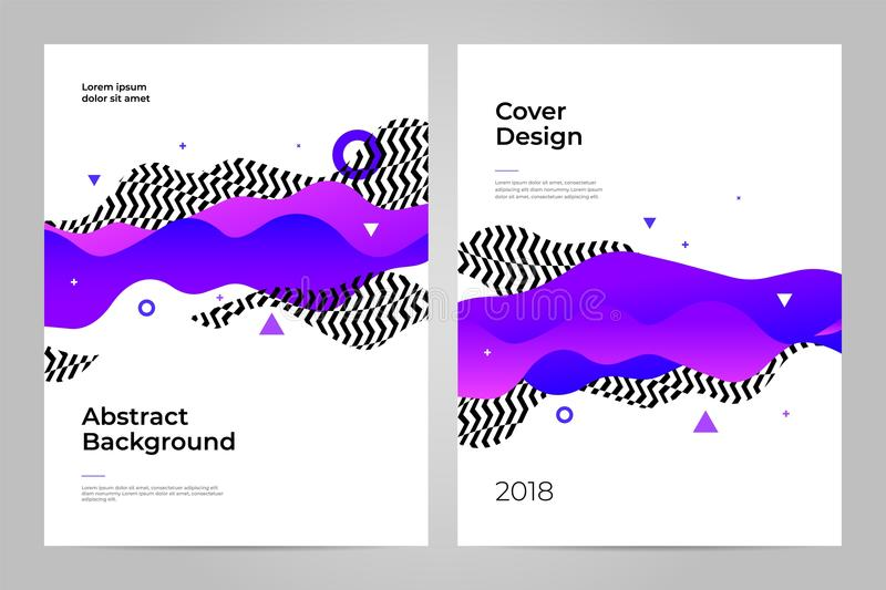 Projeto da tampa abstraia o fundo Molde do projeto da disposição