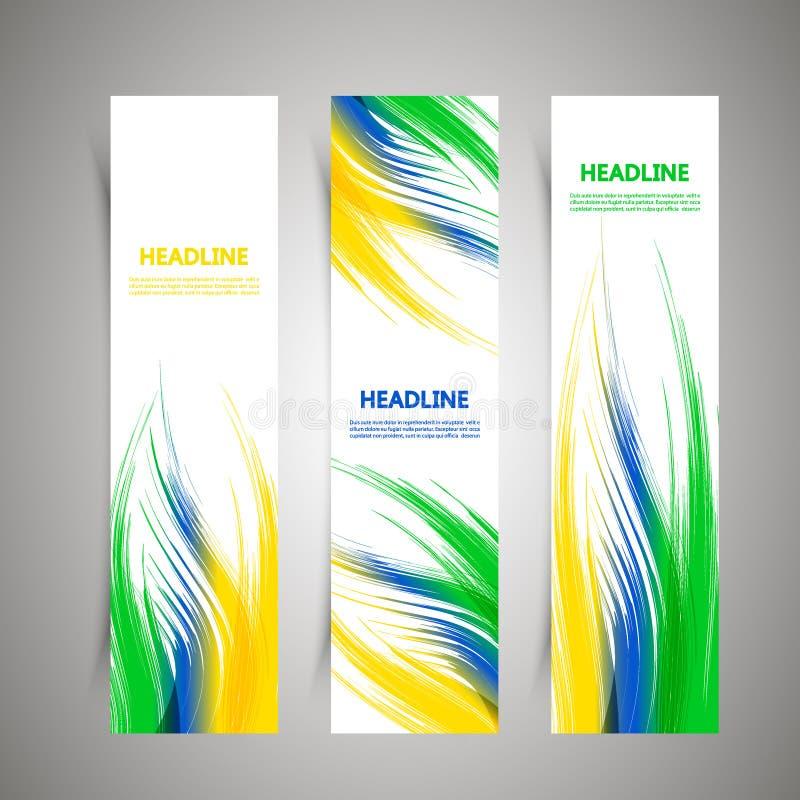 Projeto da tampa com elementos coloridos e linhas foto de stock