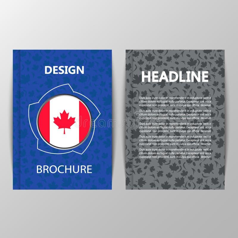 Projeto da tampa com uma folha de bordo Sinal de Canadá foto de stock royalty free