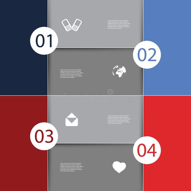Projeto da tampa de Infographics ilustração royalty free