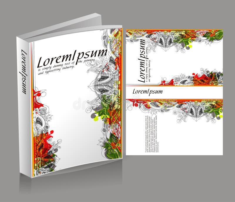 Projeto da tampa de livro ilustração royalty free
