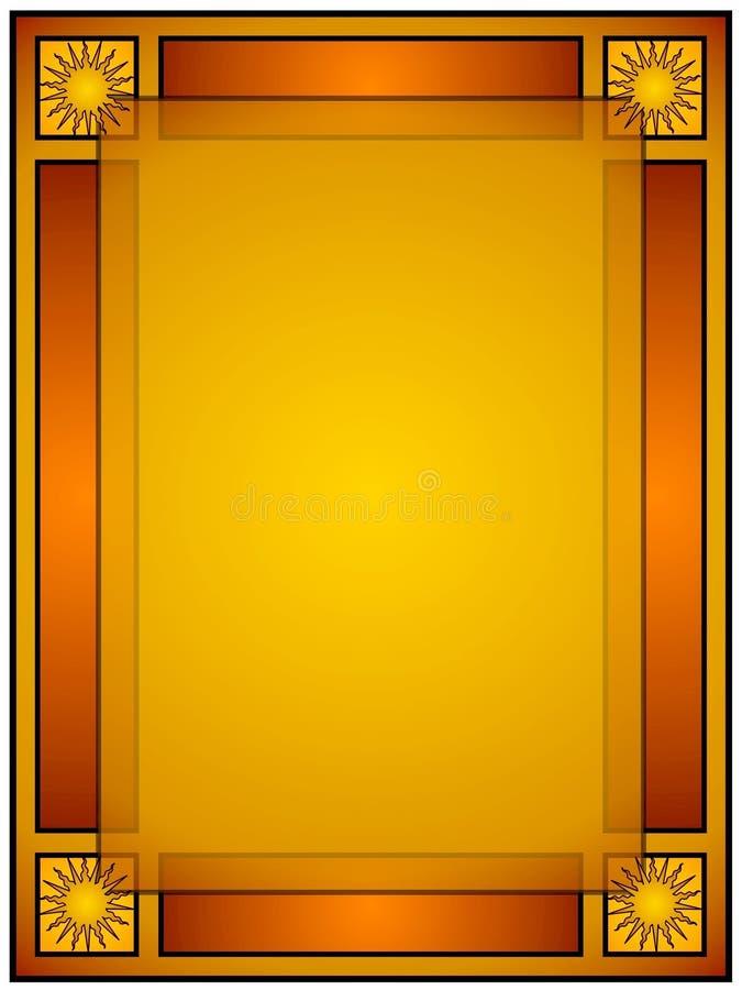 Projeto da tampa de livro de Sun do ouro ilustração royalty free