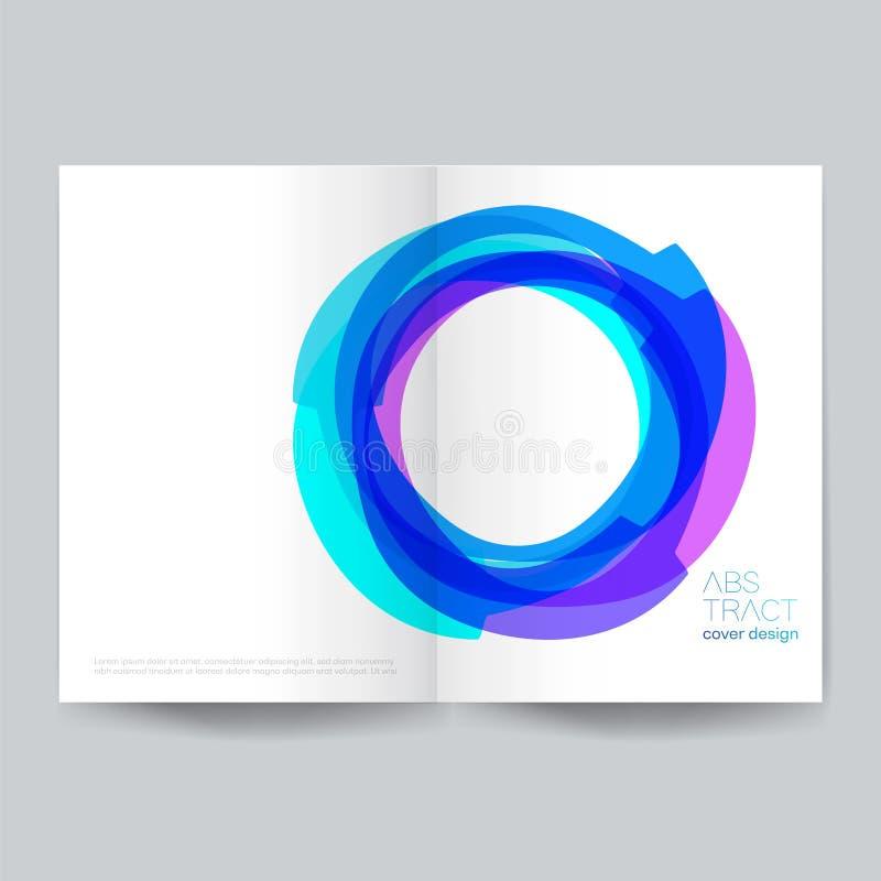 Projeto da tampa de Minimalistic - ilustração Fundos, conexão, computação gráfica, movimento, ideias ilustração stock