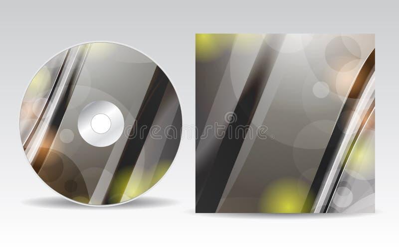 Projeto da tampa do CD ilustração stock