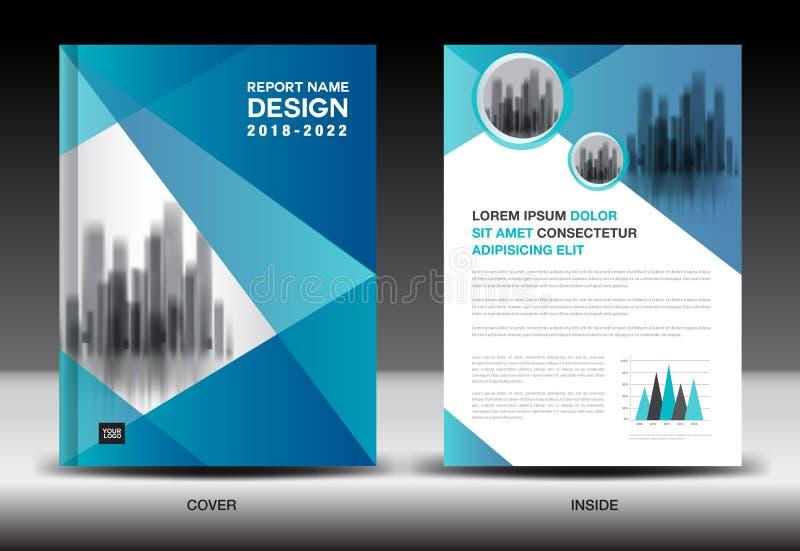 Projeto da tampa do informe anual, molde do inseto do folheto, propaganda de negócio, perfil da empresa ilustração royalty free