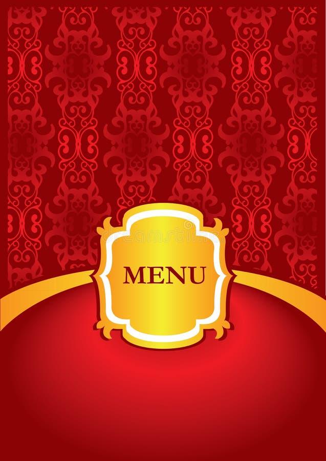 Projeto da tampa do menu ilustração stock
