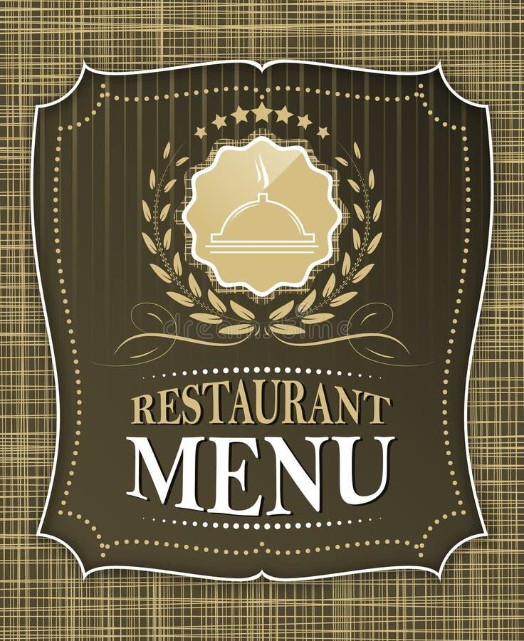 Projeto da tampa do menu do restaurante no estilo do vintage ilustração royalty free