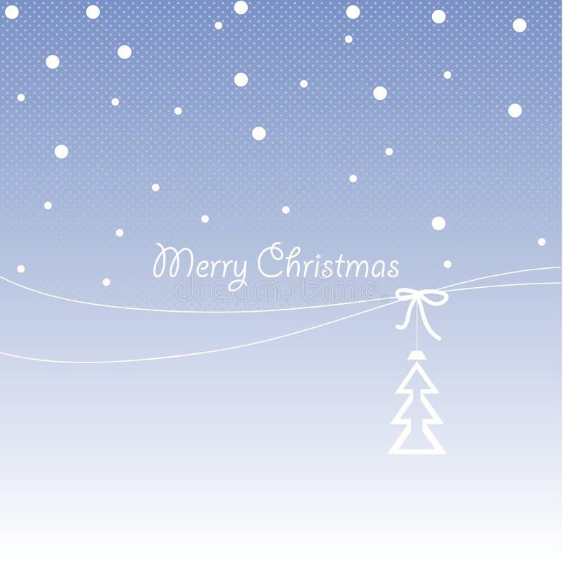 Projeto da tampa para cartões do Natal ilustração royalty free