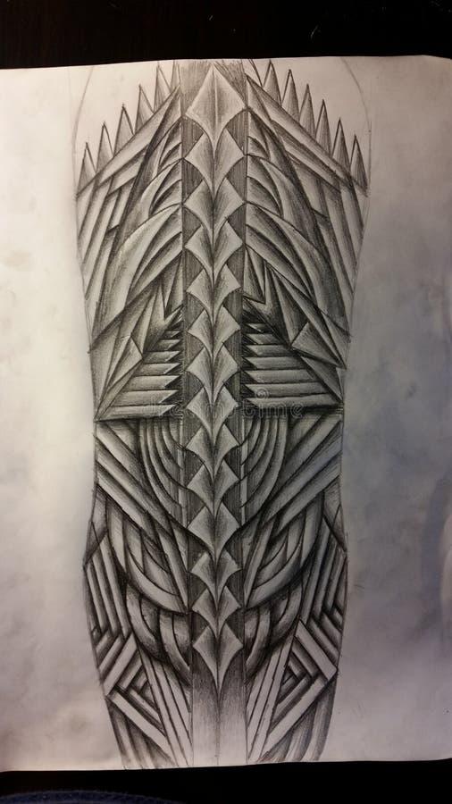 Projeto da tatuagem do forro fotografia de stock royalty free