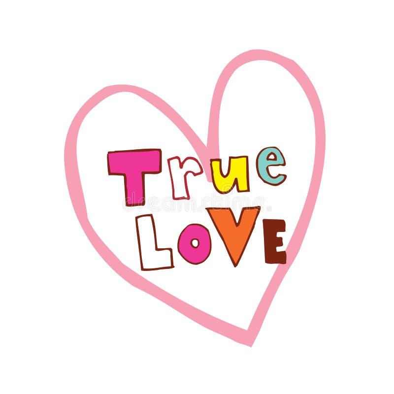 Projeto dado forma do amor coração verdadeiro ilustração royalty free