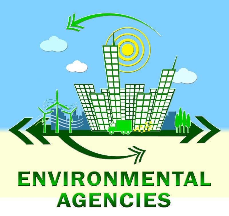 Projeto das agências de ambiente que mostra a ilustração da natureza 3d ilustração do vetor