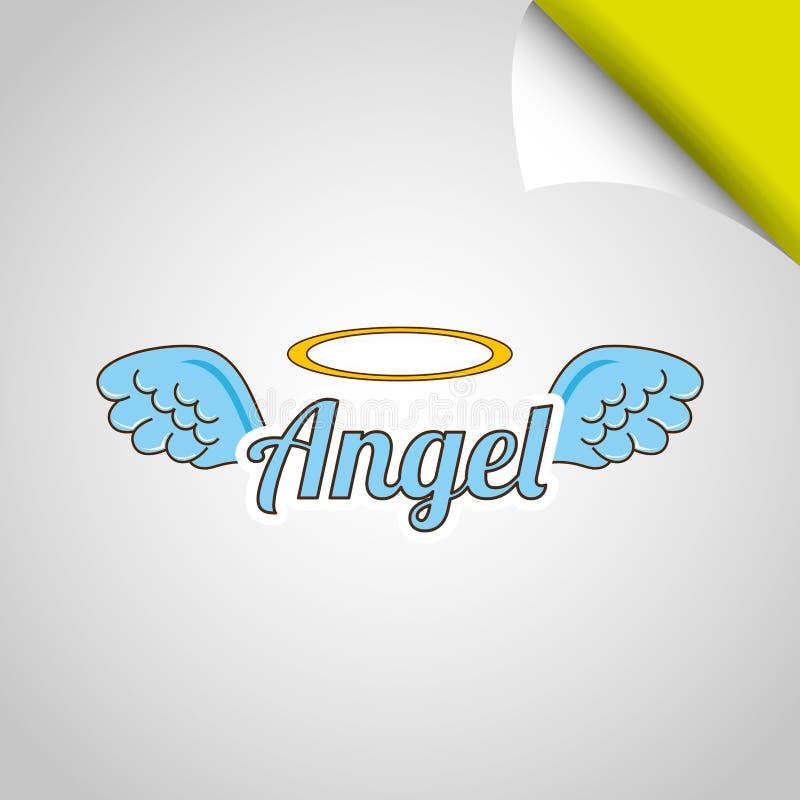 projeto das asas dos anjos ilustração stock