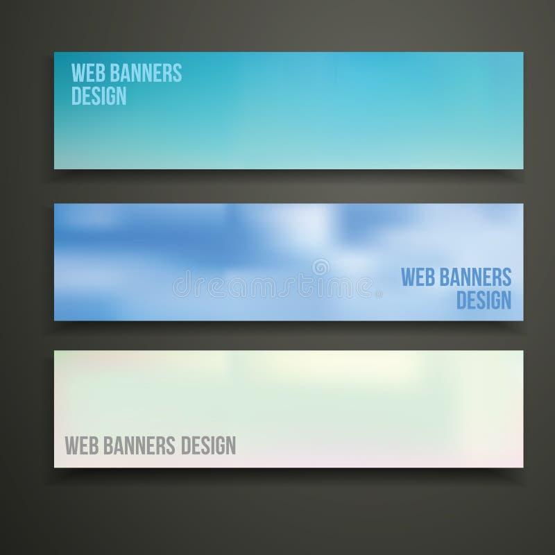 Projeto das bandeiras da Web ilustração stock