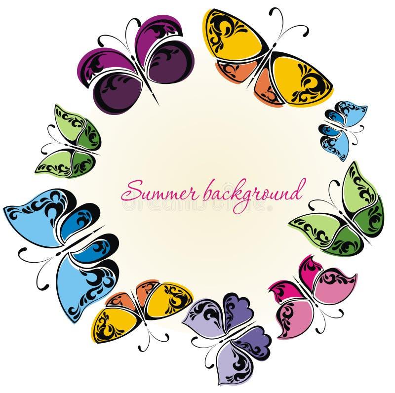 Projeto das borboletas ilustração stock