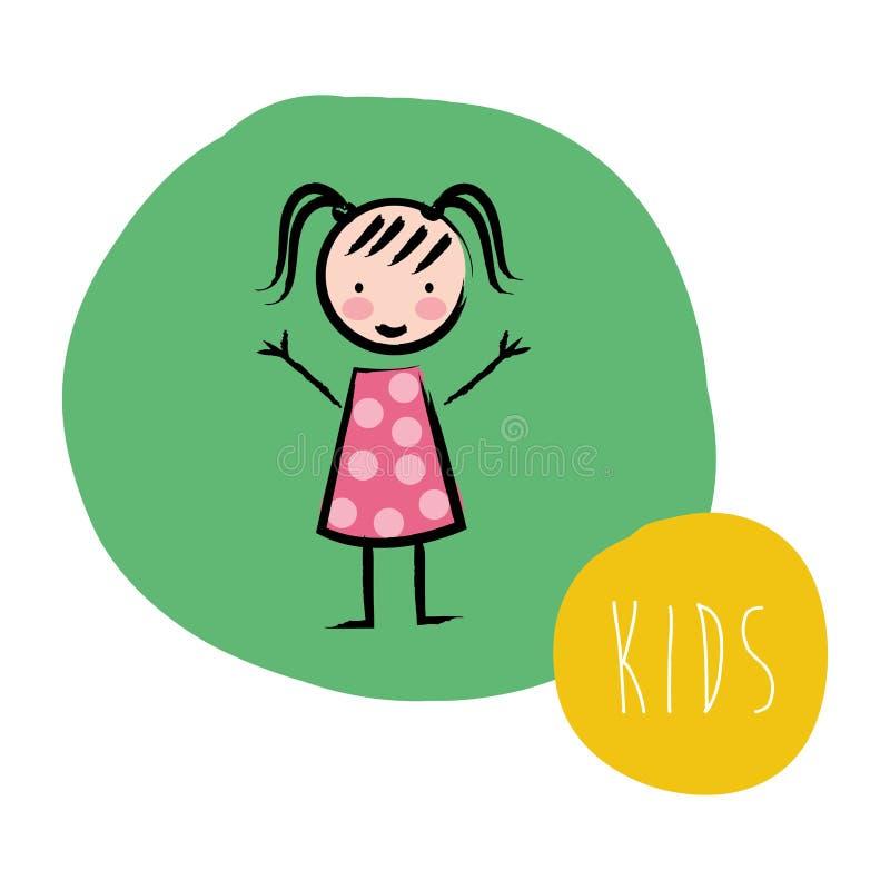 Projeto das crianças ilustração stock