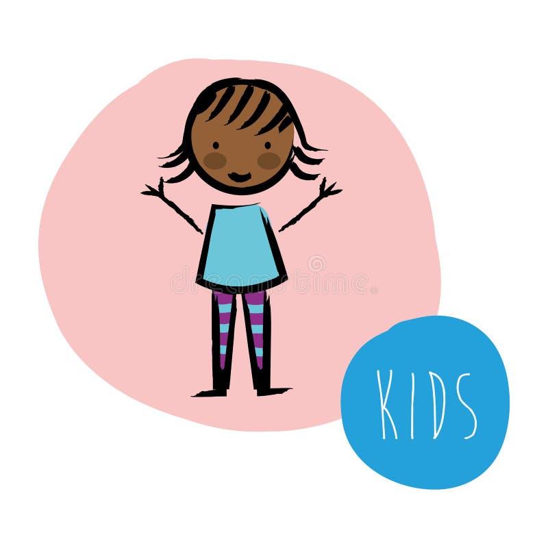 Projeto das crianças ilustração royalty free