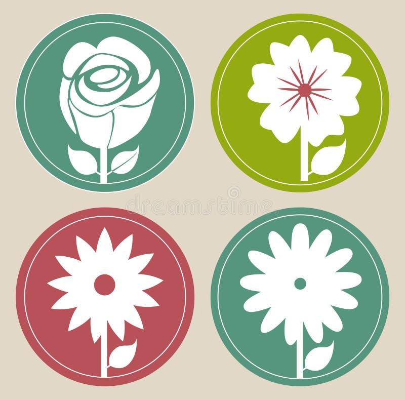 Projeto das flores ilustração stock