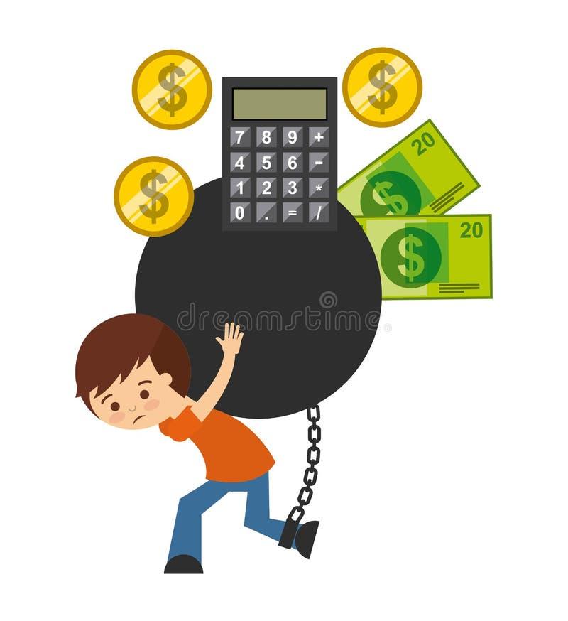 projeto das ligações de banco ilustração royalty free