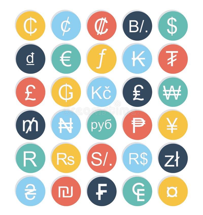 Projeto das moedas ilustração stock