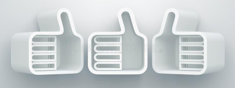 Download Projeto das prateleiras 3D ilustração stock. Ilustração de negócio - 26519102