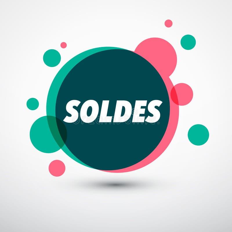 Projeto das vendas das bolhas ilustração stock