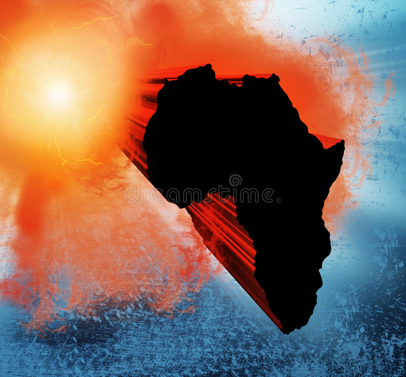 Projeto de África ilustração do vetor