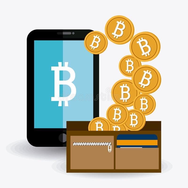 Projeto de Bitcoin, ilustração do vetor