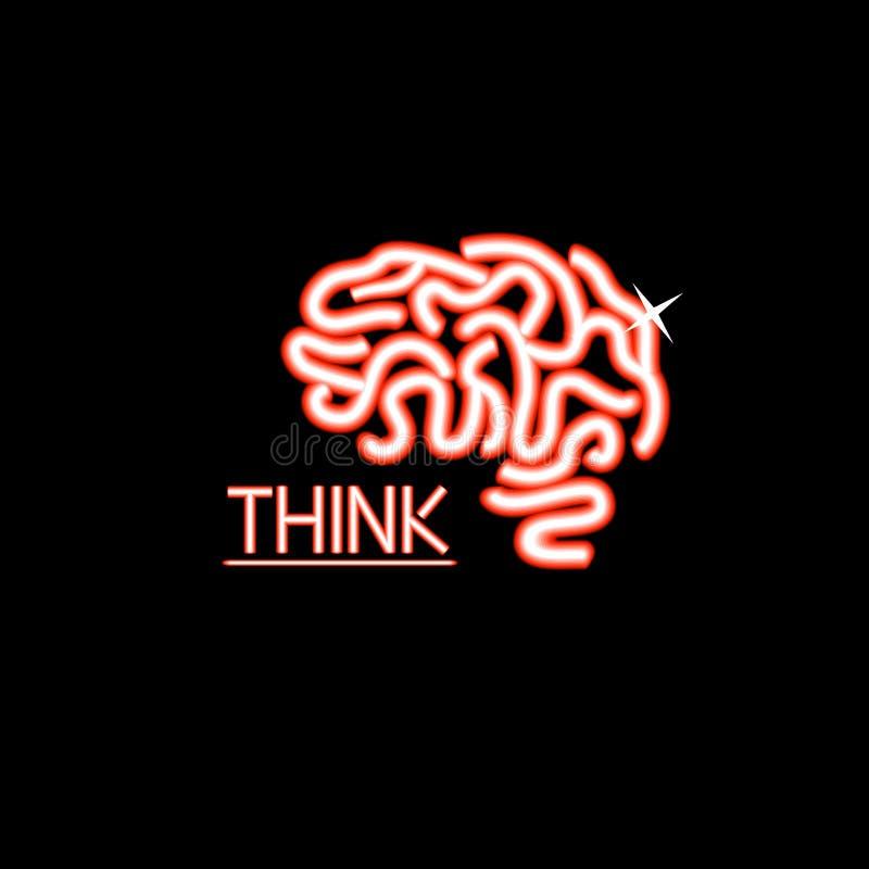Projeto de Brain Logo ilustração do vetor