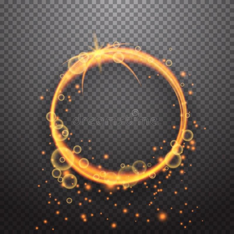 Projeto de brilho do efeito da luz do círculo ilustração stock
